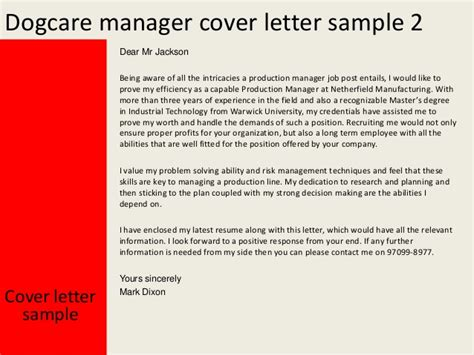 production coordinator cover letter production manager cover letter