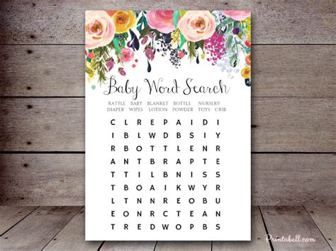 baby word search printabell create