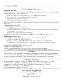 Sle Resume For Non Profit Organization by Non Profit Support Coordination Specialist Resume Exle