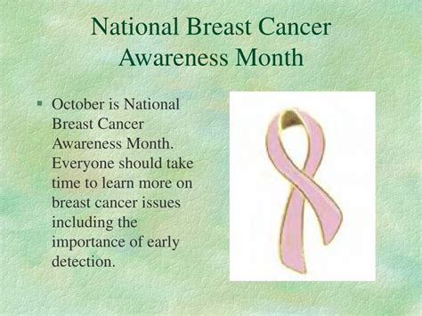 Ppt National Breast Cancer Awareness Month Powerpoint Presentation Id 58454 Powerpoint Presentation On Breast Cancer Awareness
