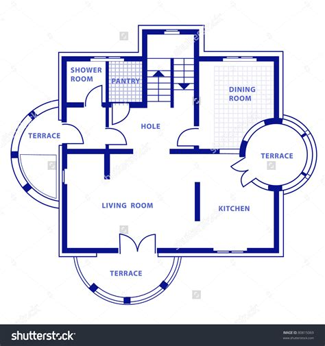 blue prints house blueprint in house home deco plans