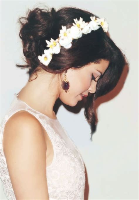 flower headband hairstyles tumblr selena gomez wedding dresses pinterest beautiful