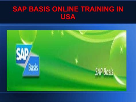 online tutorial in usa sap basis online training in usa