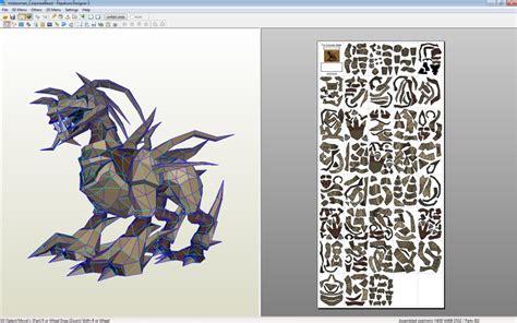 Papercraft Viewer - the corporeal beast pepakura by misterxman on deviantart