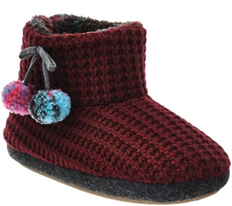 cuddl duds slippers cuddl duds fleece lined ankle bootie slippers with foam