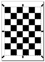 dominoc925: Create a camera calibration chess board