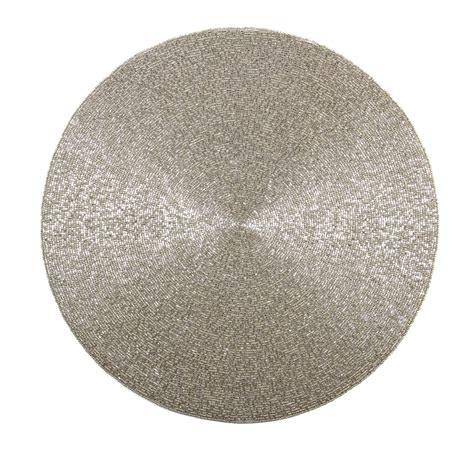 round metal bead placemat huzza