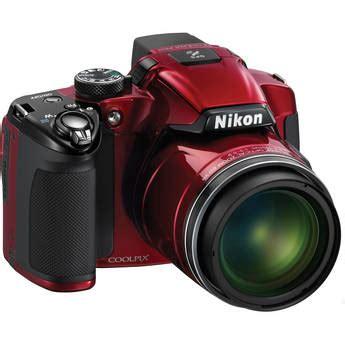 nikon coolpix p510 digital camera (red) 26330 b&h photo video