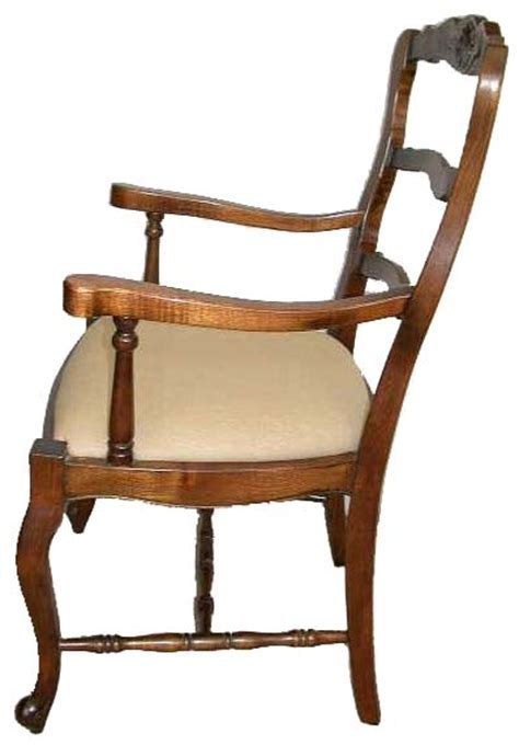 C219 Coffee country ladder back dining chairs chair pads