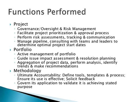 project management office roles functions and benefits