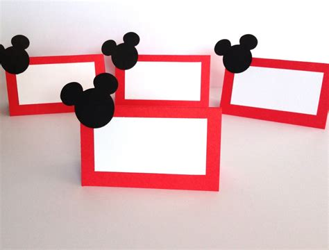 Mickey Mouse Place Card Template by 10 Mickey Mouse Place Cards Food Labels Mickey