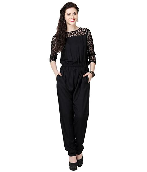 Yumico 3 In 1 Jumpsuit eavan black lace jumpsuit buy eavan black lace jumpsuit at best prices in india on snapdeal