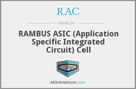 asics application specific integrated circuit rac rambus asic application specific integrated circuit cell