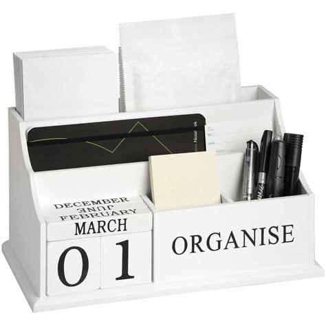 white organise desktop organiser  baytree interiors