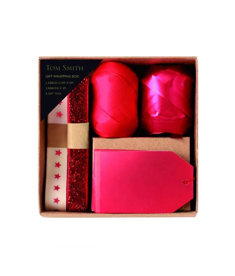 luxury christmas gift wrapping accessory pack red gold