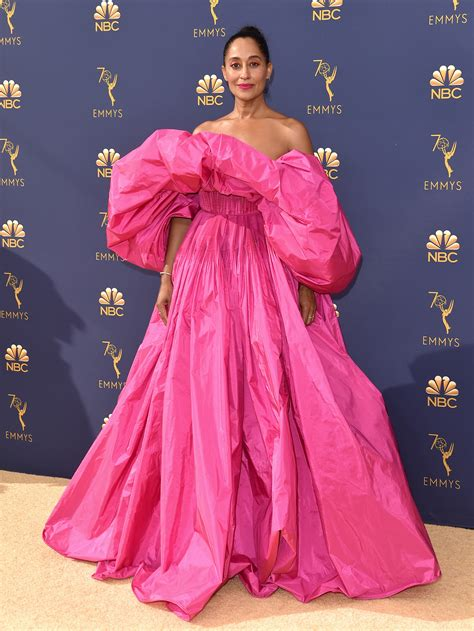 tracee ellis ross pink dress the best and worst dressed of the 2018 emmy awards