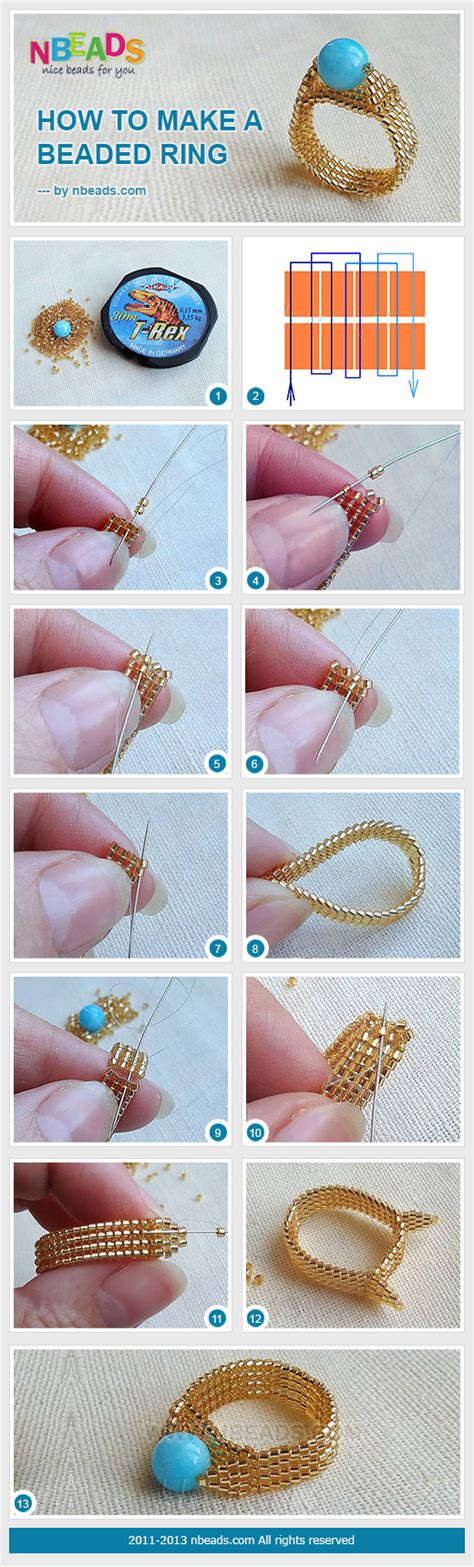 how to make a beaded ring how to make a beaded ring pictures photos and images for