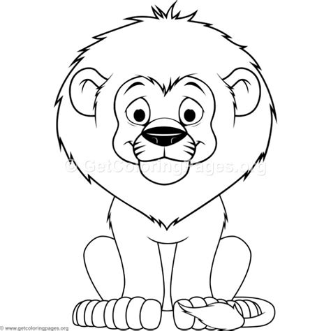 cartoon lion coloring pages baby lion coloring pages