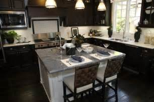 Dark Kitchen Cabinets With Dark Floors this kitchen balances its dark wood flooring and cabinetry with white