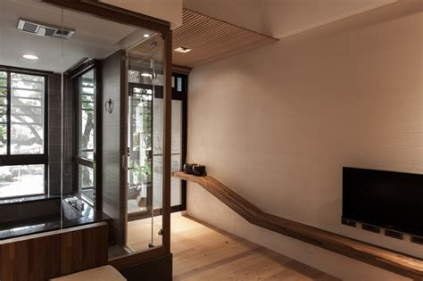 modern japanese house interior glass entryway interior design ideas