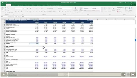 financial model template startup startup e commerce financial modeling course valuation