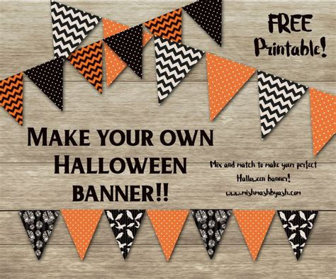 printable halloween birthday banner birthday banner halloween printable festival collections