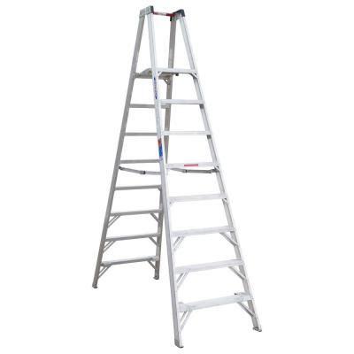 werner 8 ft aluminum platform step ladder with 300 lb
