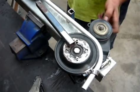 Vedio One Tub how to diy a low cost and functional bender from belt pulleys and scrap steel