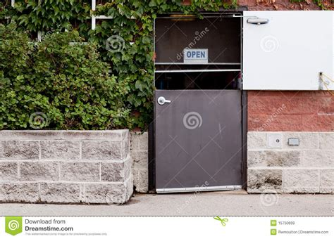 back door to restaurant royalty free stock images image
