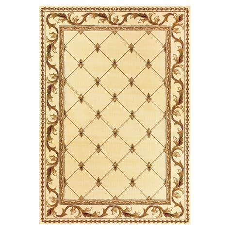 Fleur De Lis Area Rug Kas Rugs Fleur De Lis Ivory 5 Ft 3 In X 7 Ft 7 In Area Rug Cor531853x77 The Home Depot