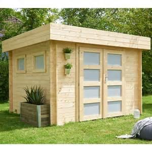 abri de jardin bois 9 52 m 178 ep 28 mm toit plat kivik