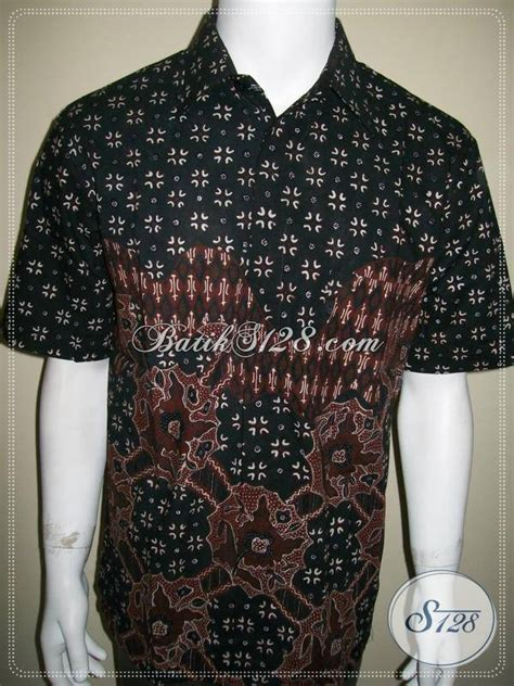 Mukena Batik Agung kemeja batik tulis jogja modern kontemporer warna hitam dan coklat soga ld398t l toko batik