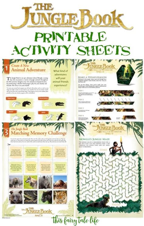 The Jungle Book Printable Activities   This Fairy Tale Life