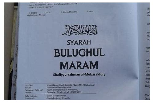 syarah bulughul maram download