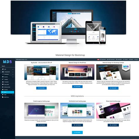 free bootstrap themes material material design themes