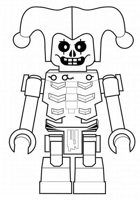 robot joker coloring page netart