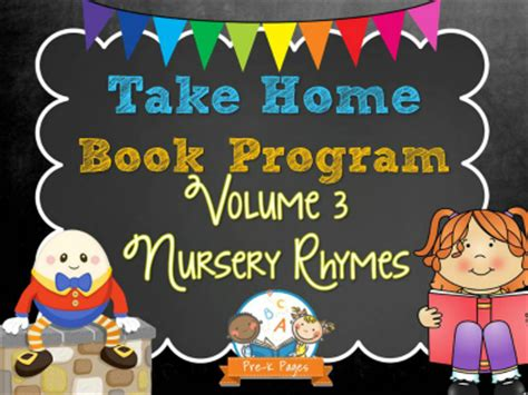 take home book program vol 3 pre k pages