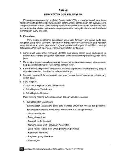 contoh format askep hipertensi pedoman penemuan dan tatalaksana hipertensi