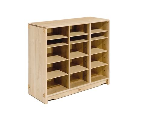 tote storage shelves communityplaythings f696 3 x 32 tote shelf without totes