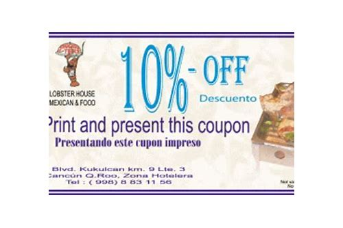 restaurant coupons for cancun mexico
