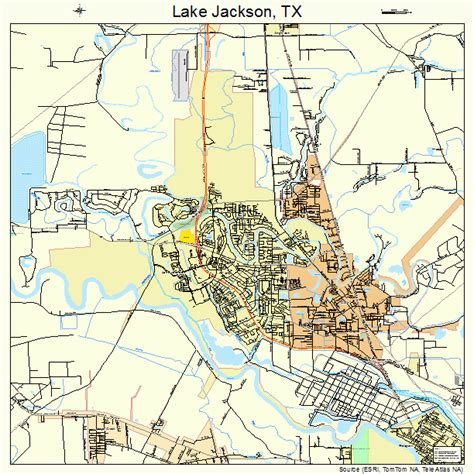 texas lake maps lake jackson texas map 4840588