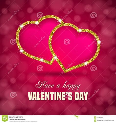 valentines day glitter text s day background stock vector image 64949363