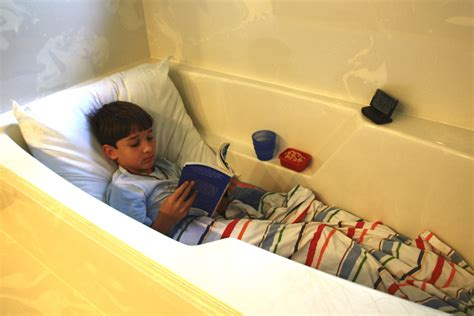 bathtub reading homemade reading pillow
