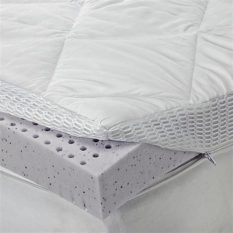mattress pad bed bath and beyond buy sheex 174 theragel memory foam mattress topper from bed
