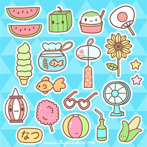 sticker doodle draw japan lover me free summer themed stickers for