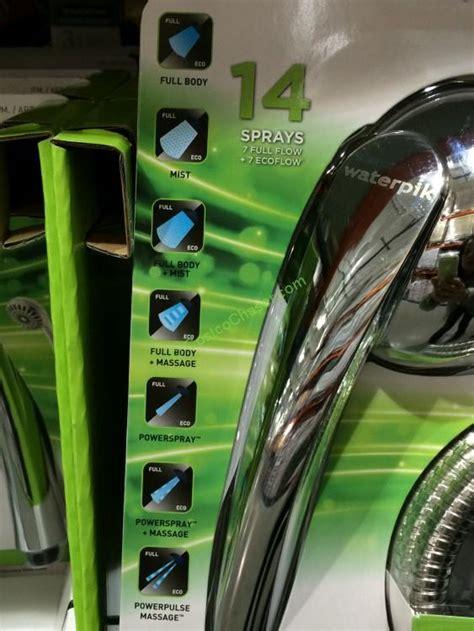 Costco Waterpik Shower by Waterpik Handheld Shower With 14 Spray Settings