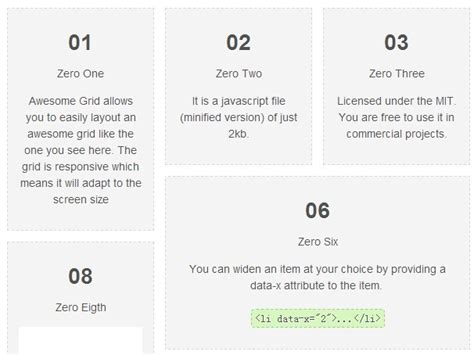 grid layout jquery plugin simple clean jquery responsive grid layout plugin