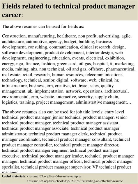 Technical Product Manager Sle Resume by Top 8 Technical Product Manager Resume Sles