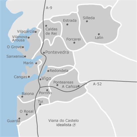 mapa de pontevedra provincia promociones de obra nueva idealista