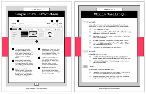 side by side coaching template 16 ideas for student projects using docs slides